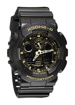 Casio Men's GA-100CF-1A9CR G-Shock Camouflage Watch With Bla