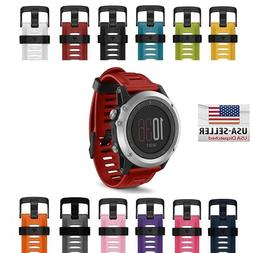 Garmin Fenix 3 / 3 HR Replacement Band, Silicone Strap with