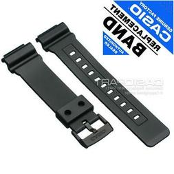 Genuine Casio Black Rubber Watch Band Resin Strap f/ Tough S