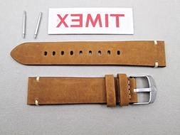 Genuine Timex Expedition Scout TW4B01800 tan camel glove lea