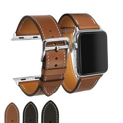Genuine Her/mes Calf Leather Watch Band for Apple iWatch 38m