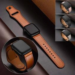 Genuine Leather Apple Watch Band For iWatch Series 5 4 3 2 1