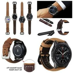 22mm Leather Watch Band Strap For Samsung Gear S3 Frontier C