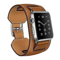 Genuine Leather Cuff Strap Apple Watch Band 38/40/42/44mm  i