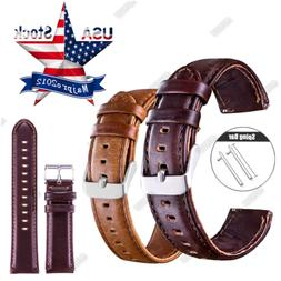 Genuine Leather Replace Watch Band 18mm Quick Release Strap