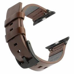genuine leather strap band for apple watch