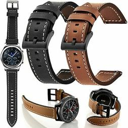 Genuine Leather Watch Band Strap Bracelet For Galaxy Watch 4
