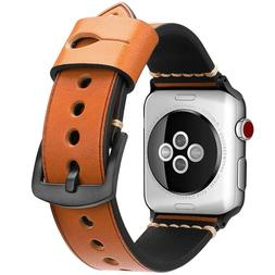 Genuine Leather Watch Strap Band for Apple Watch 38mm Series