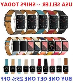 Leather Wrist Strap For Apple Watch Band 38/40/42/44mm Serie