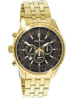 Men's Gold Citizen Chronograph Stainless Steel Watch AN8062-