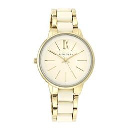 Anne Klein® Goldtone Bracelet Watch with Ivory Accents