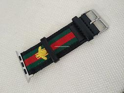 Gucci Stripe Pattern Sport Replacement Leather Watch Band St
