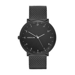 Skagen Men's Hald Black-Tone Stainless Steel Heavy Gauge Mes