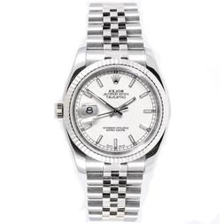 Rolex Mens New Style Heavy Band Stainless Steel Datejust Mod