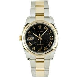 Rolex Mens New Style Heavy Band Stainless Steel & 18K Gold D