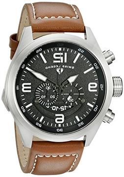 Swiss Legend Highlander Chronograph Brown Genuine Leather Bl
