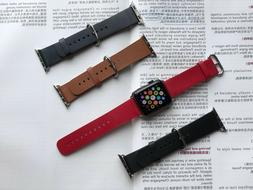 I watch Band luxury leather strap for Apple watch series 4 3