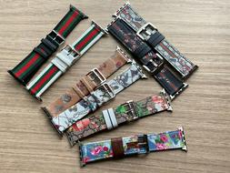 I Watch Band leather  for Watch Series SE/ 6 / 5 4 3 2 1 44m