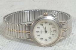Anne Klein Instalite Watch Silver Toned Stretch Band Water R
