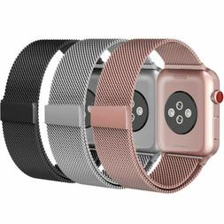 For Apple Watch Series 5 4 3 2 iWatch Metal Band Strap Adjus