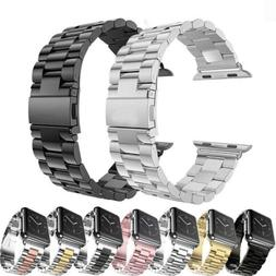 For Apple iWatch Series 5/4/3/2/6 Stainless Steel Wrist Stra