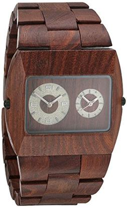 Wewood Men's Limited Edition Jupiter Brown Dual Movement Woo