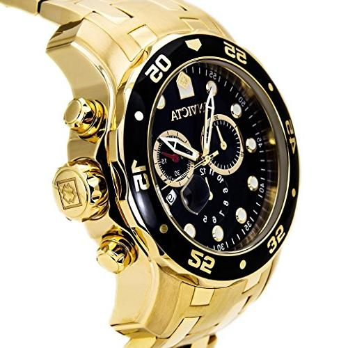 Invicta Diver Collection Gold-Plated Watch,