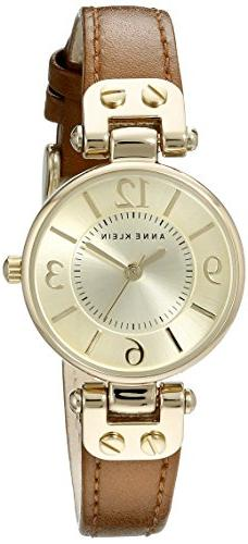 Anne Klein Women's 109442CHHY Gold-Tone Champagne Dial and B