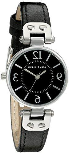 Anne Klein Women's 109443BKBK Silver-Tone Black Dial and Bla