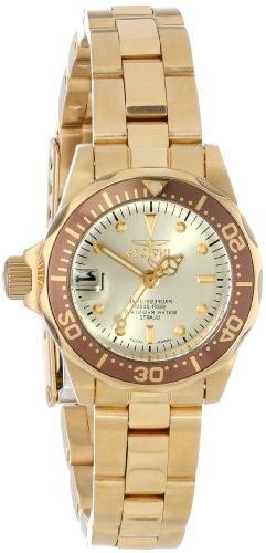 Invicta Women's 12527 Pro-Diver 18k Gold Ion-Plated Stainles