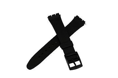 17mm Black Replacement Band Strap fits SWATCH watches