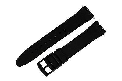 17mm black soft pvc replacement band strap