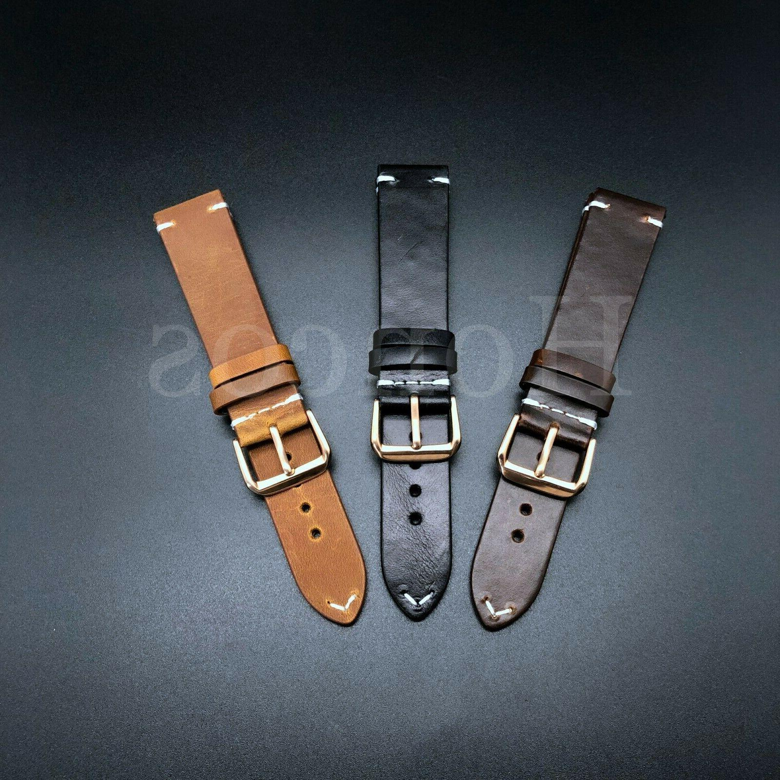 18-24 Leather Band Brown Black Rolex