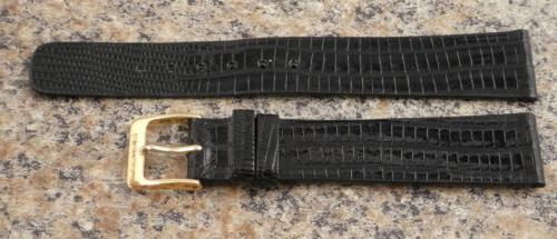 18mm Authentic Genuine Teju Lizard Band NOS Thin Strap #S76b