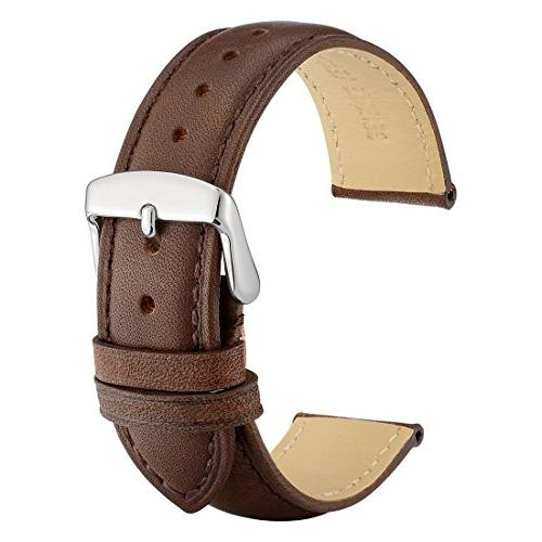 18mm watch band dark brown vintage leather