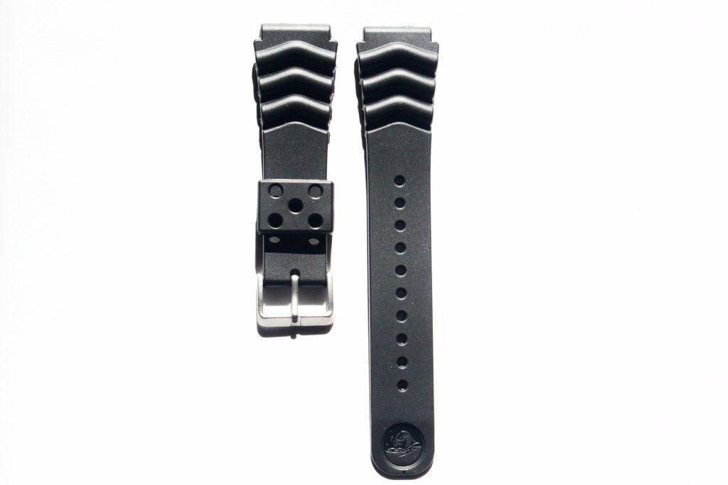 20mm 22mm replacement black band strap rubber