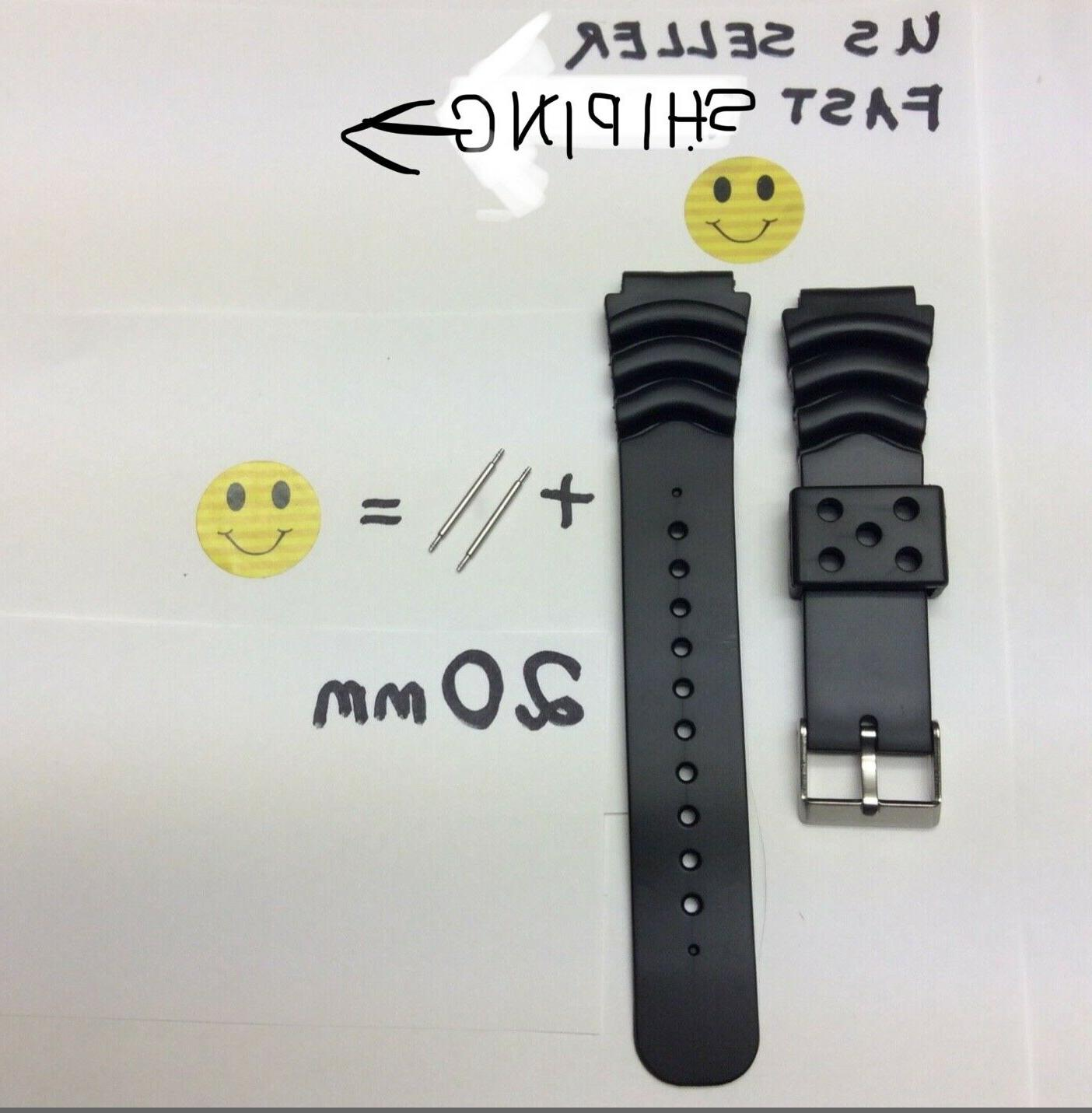 20mm Divers watch Band strap will fit Seiko pulsar watches w