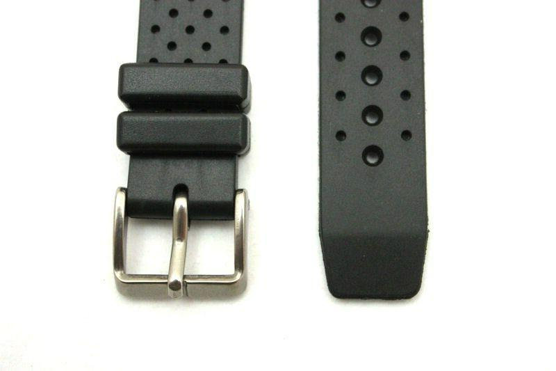 20mm for Citizens Black Rubber Wind Watch