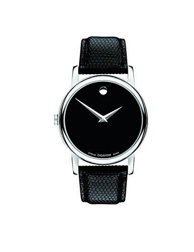 2100002 stainless steel black leather