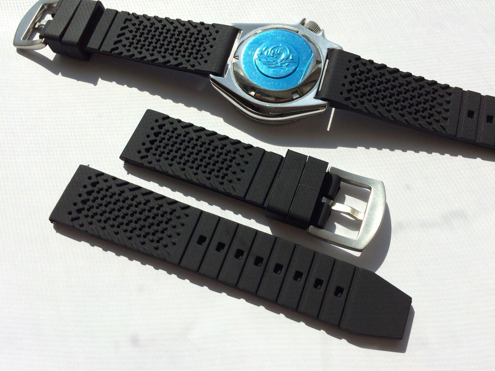 22mm Silicone Rubber Watch Band Seiko Diver 22mm