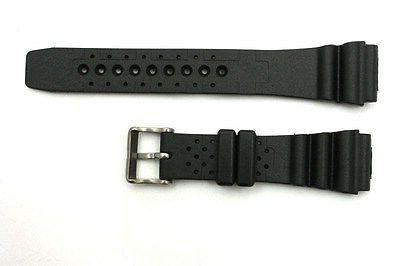 22mm Citizens Black Rubber Waterproof Divers Watch Band Strap