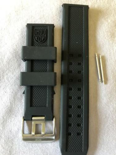 LUMINOX 23mm Replacement Rubber Black Band With