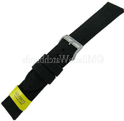 24mm padded stitched genuine cordura canvas black