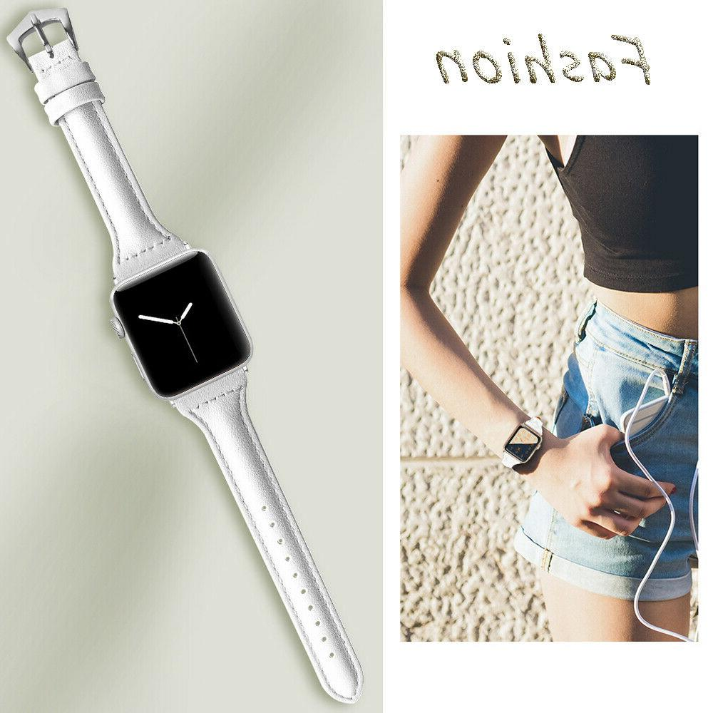 38/40mm Leather Strap for Apple 4 3