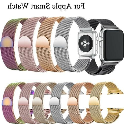 38 For Apple Magnetic Loop iWatch Strap