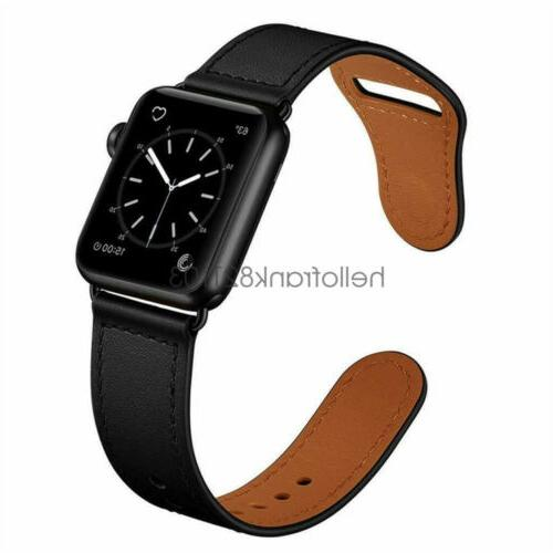40/44mm Leather Apple Watch Band Strap iWatch 4 3 2