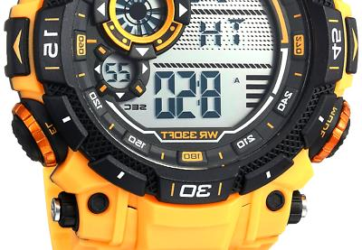 40 8397ylw men s yellow resin watch