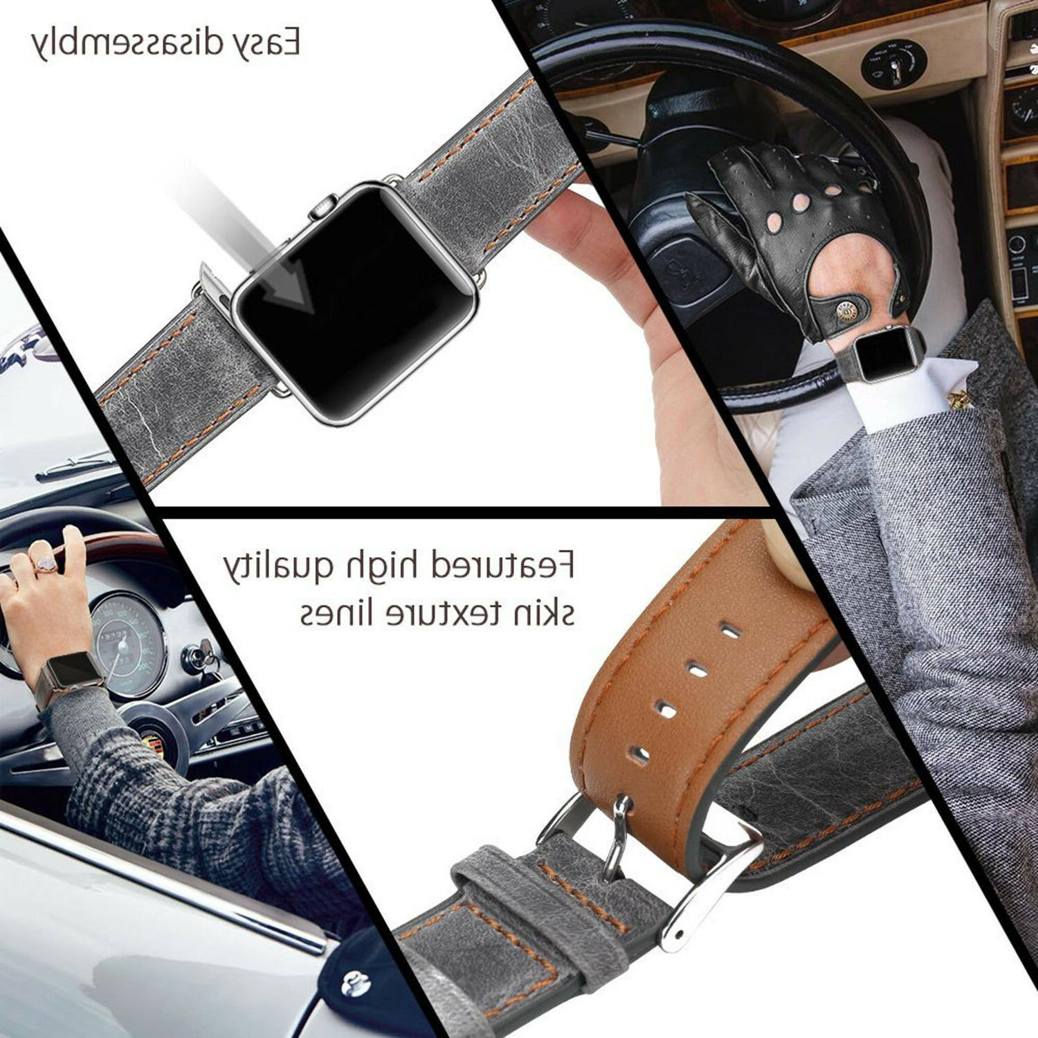 42MM Leather Strap Watch 1
