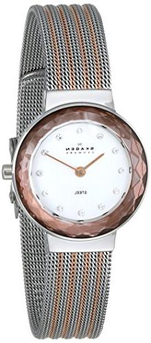 Skagen Women's 456SRS1 Leonora Stainless Steel and Rose Gold