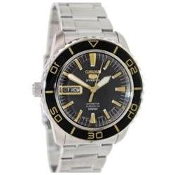 Seiko 5 Sports Automatic Black Dial Stainless Steel Mens Wat